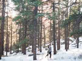 evergreen colorado winter engagement