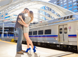 Union Station Engagement Photos