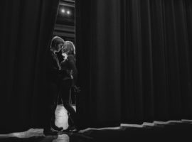 music theater engagement photos high school sweetheart