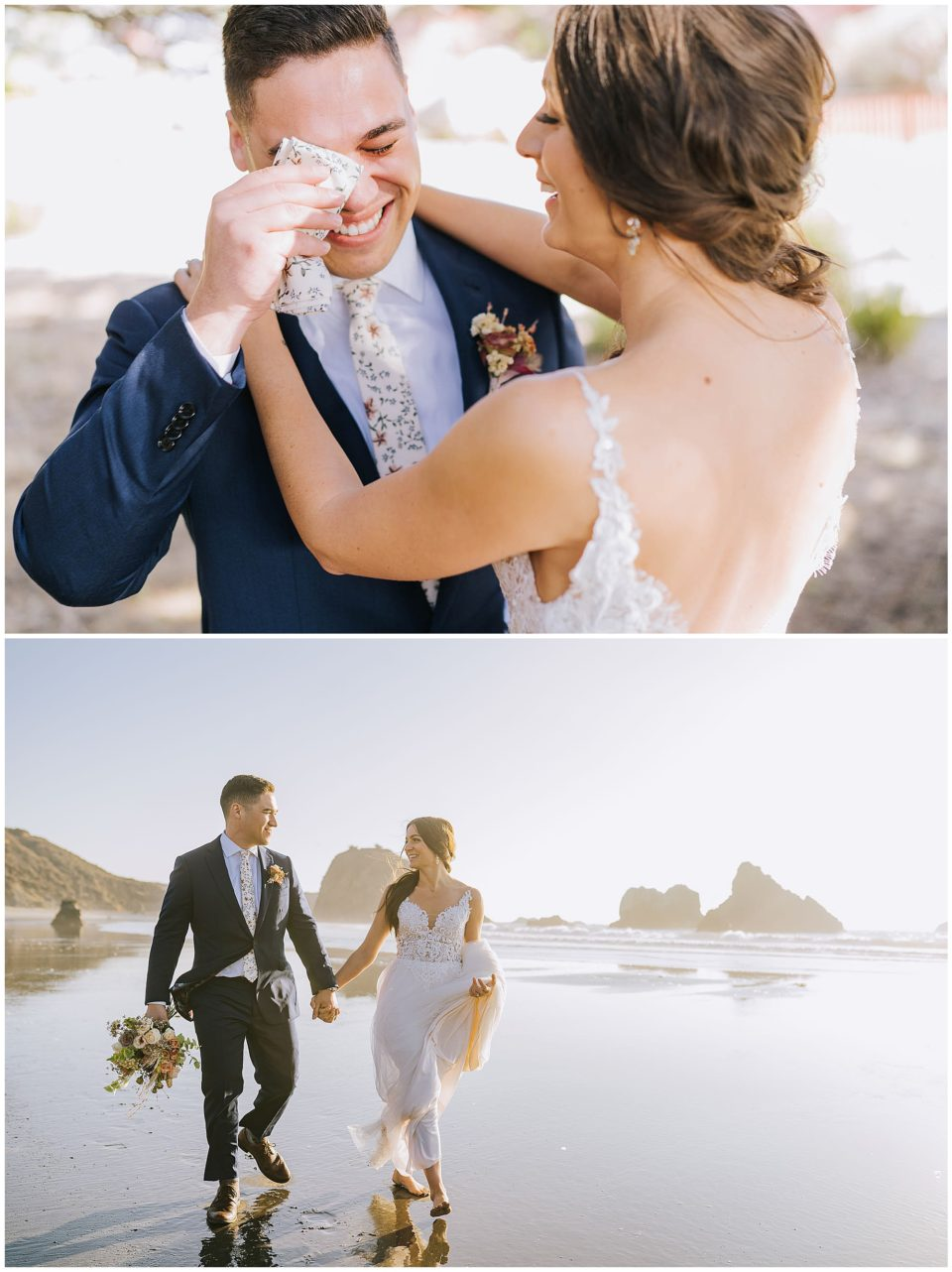micro wedding on California beach photographed by Elevate Photography