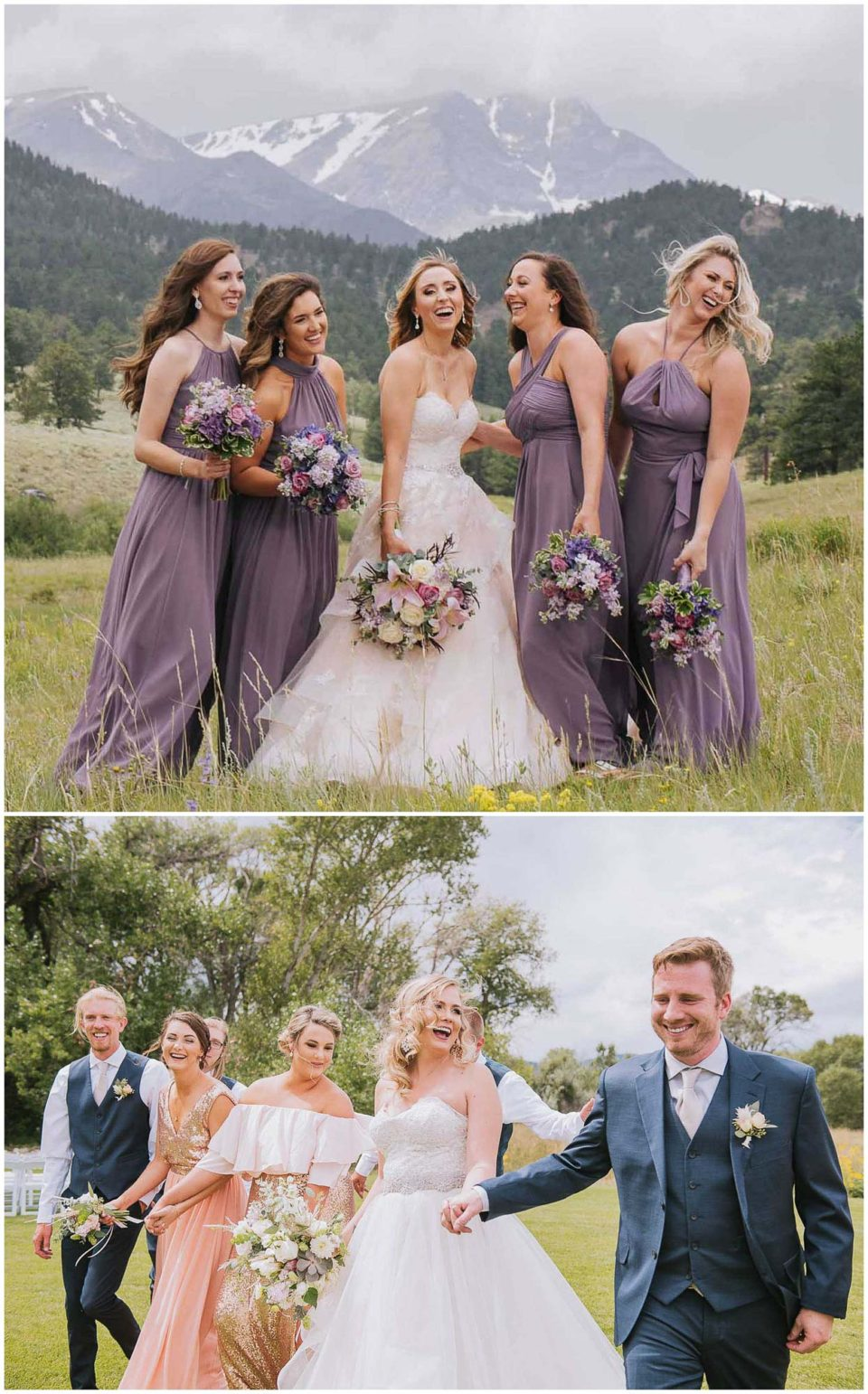 Micro wedding party in mountains photographed by Elevate Photography
