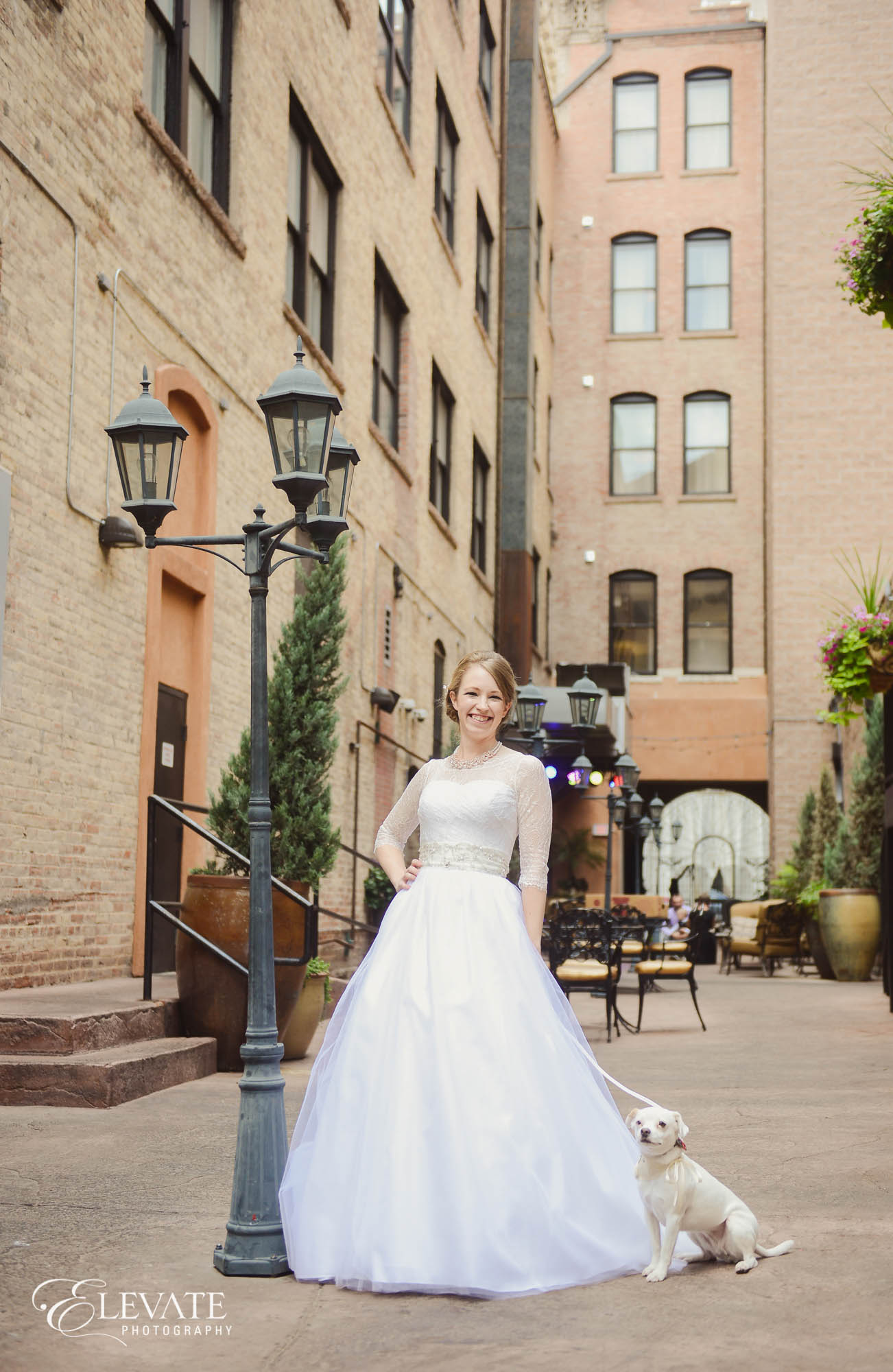 bridal portrait at Mining Exchange