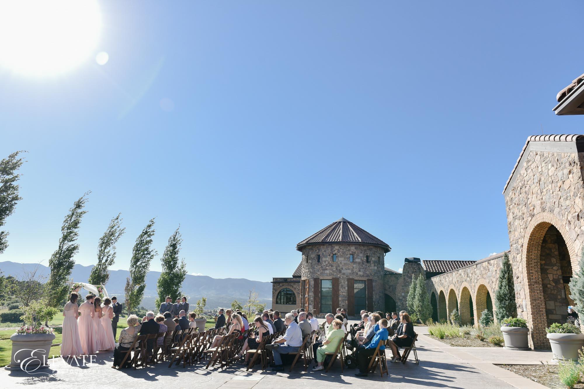 wedding ceremony colorado springs wedding photos
