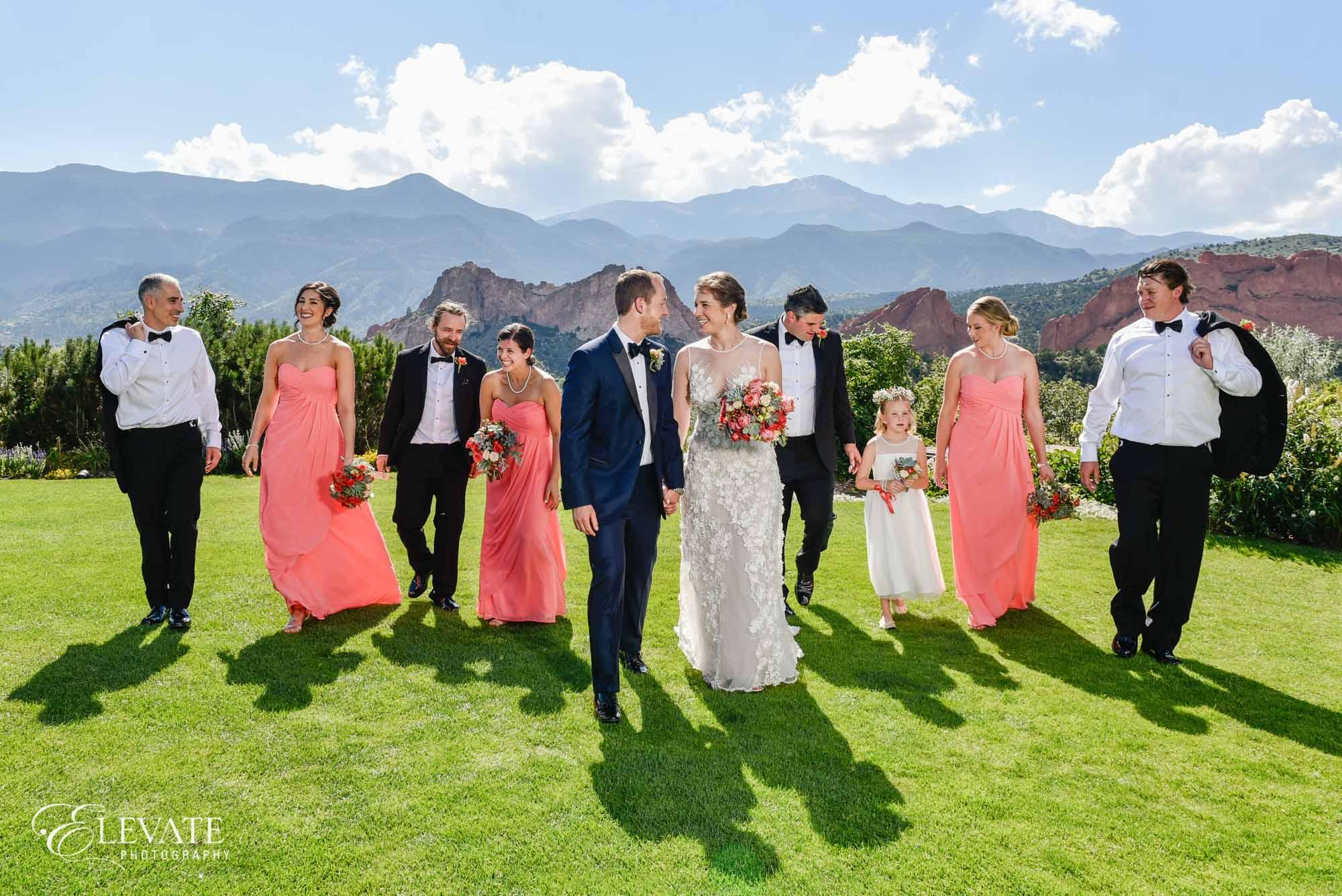 wedding party garden of the gods club colorado springs wedding