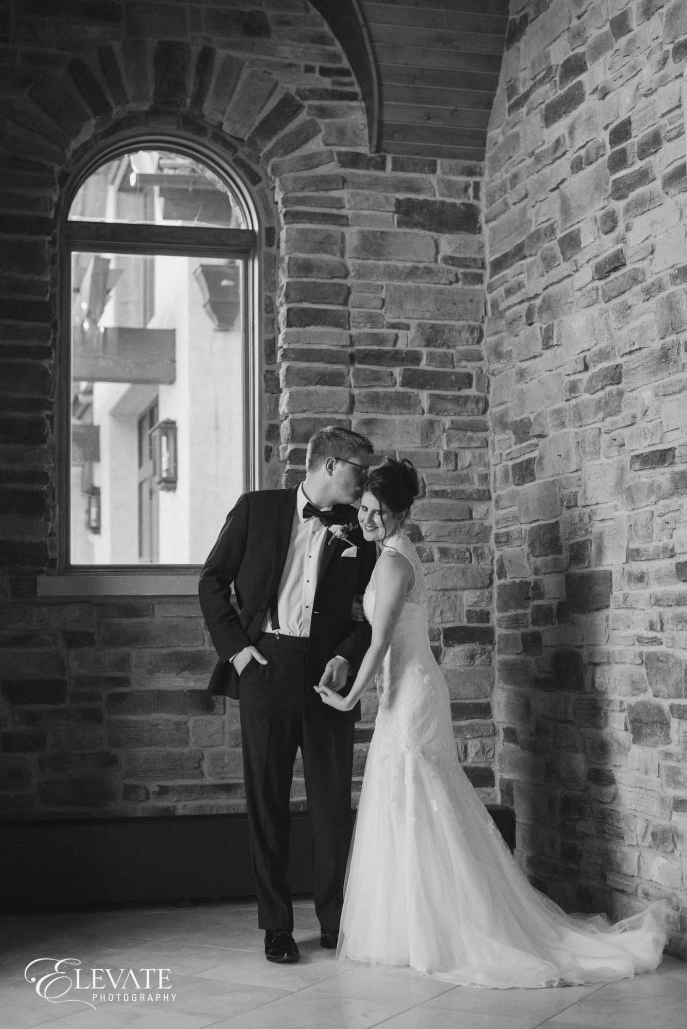 black white portrait couple aurora wedding