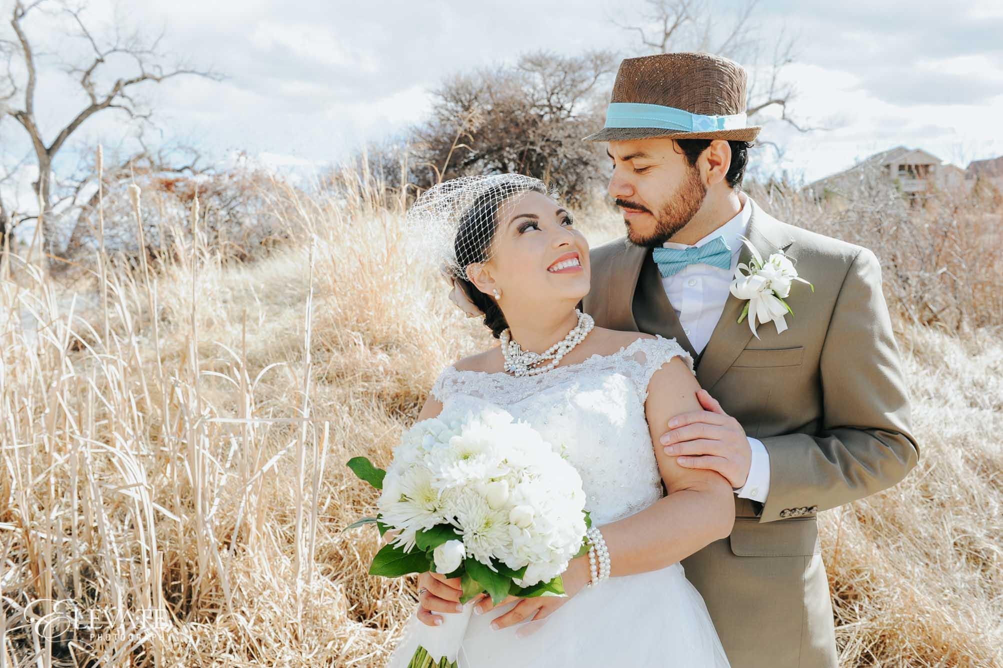 fall aurora wedding photos
