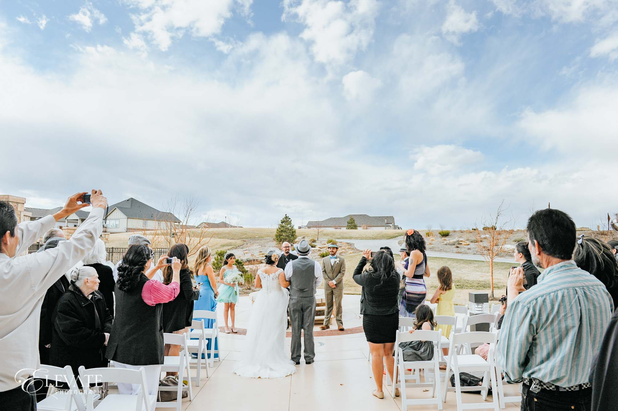 Aurora wedding ceremony outside