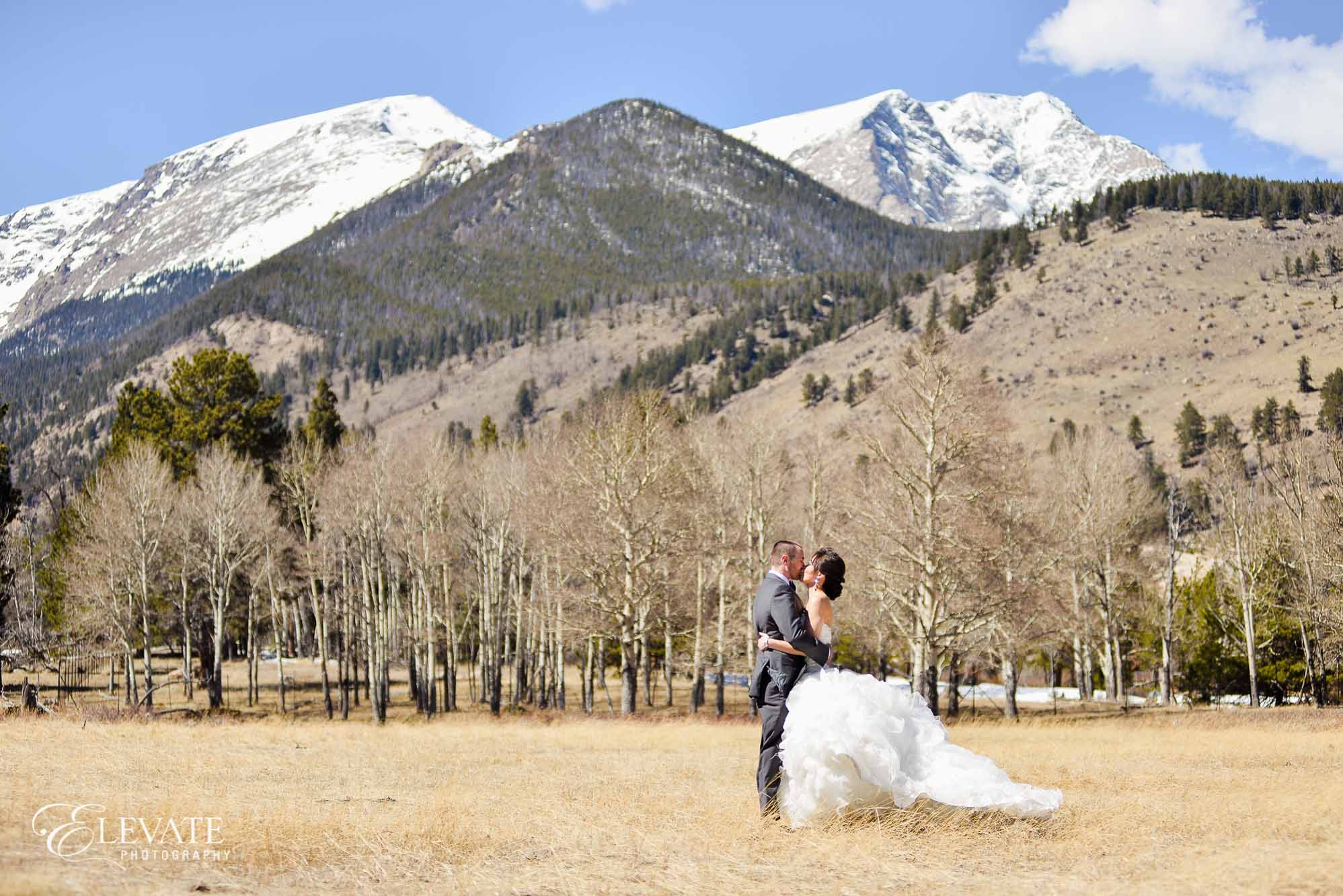 Estes Park Rocky Mountain National Park wedding couple