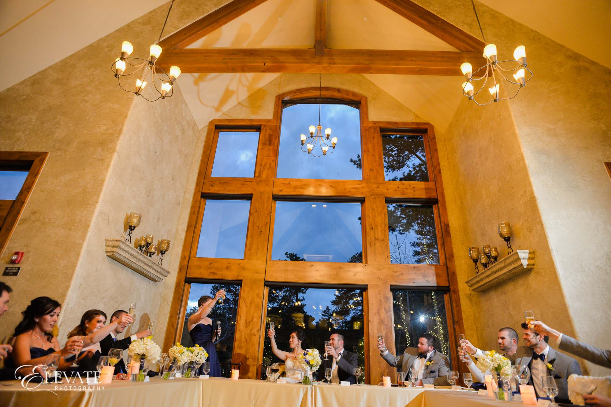 toasts reception estes park wedding della terra