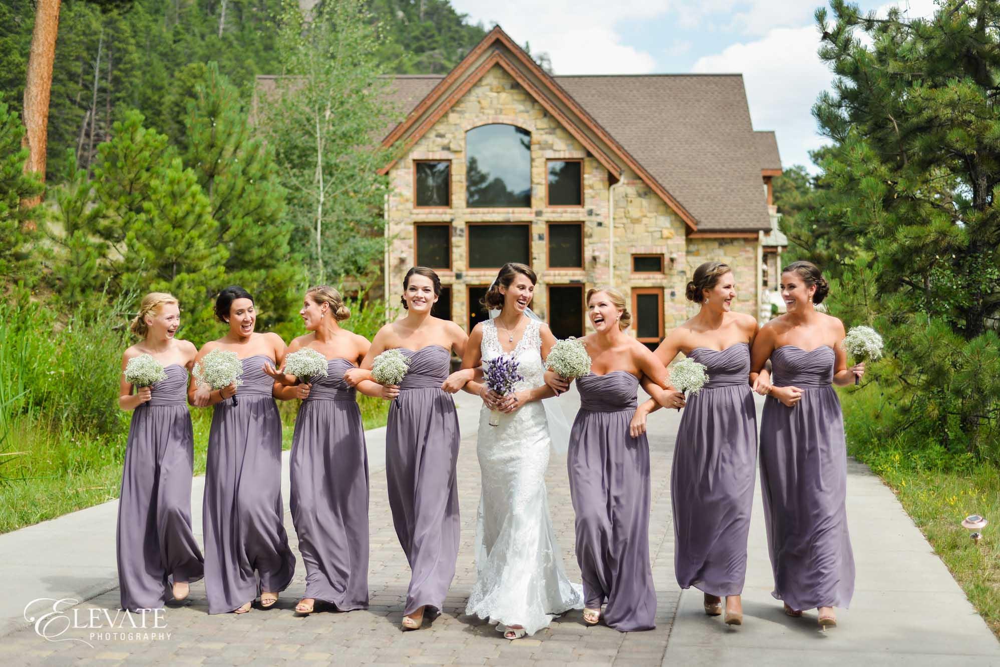 bridesmaids purple lavender della terra estes park