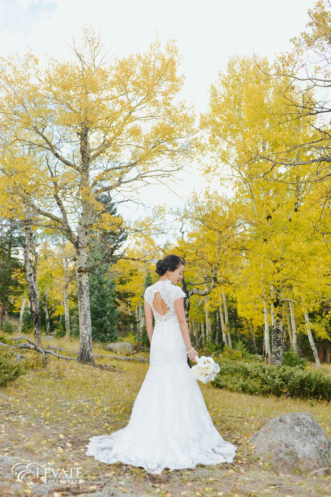 Rocky Mountain National Park bride Estes Park wedding