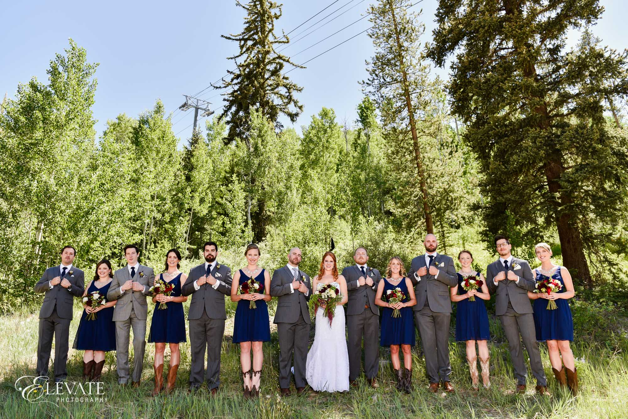 wedding party vail