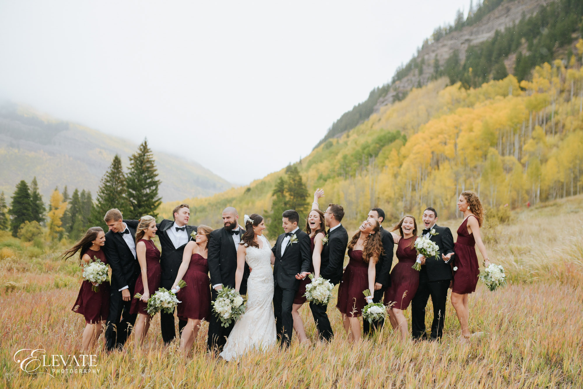 Vail wedding party