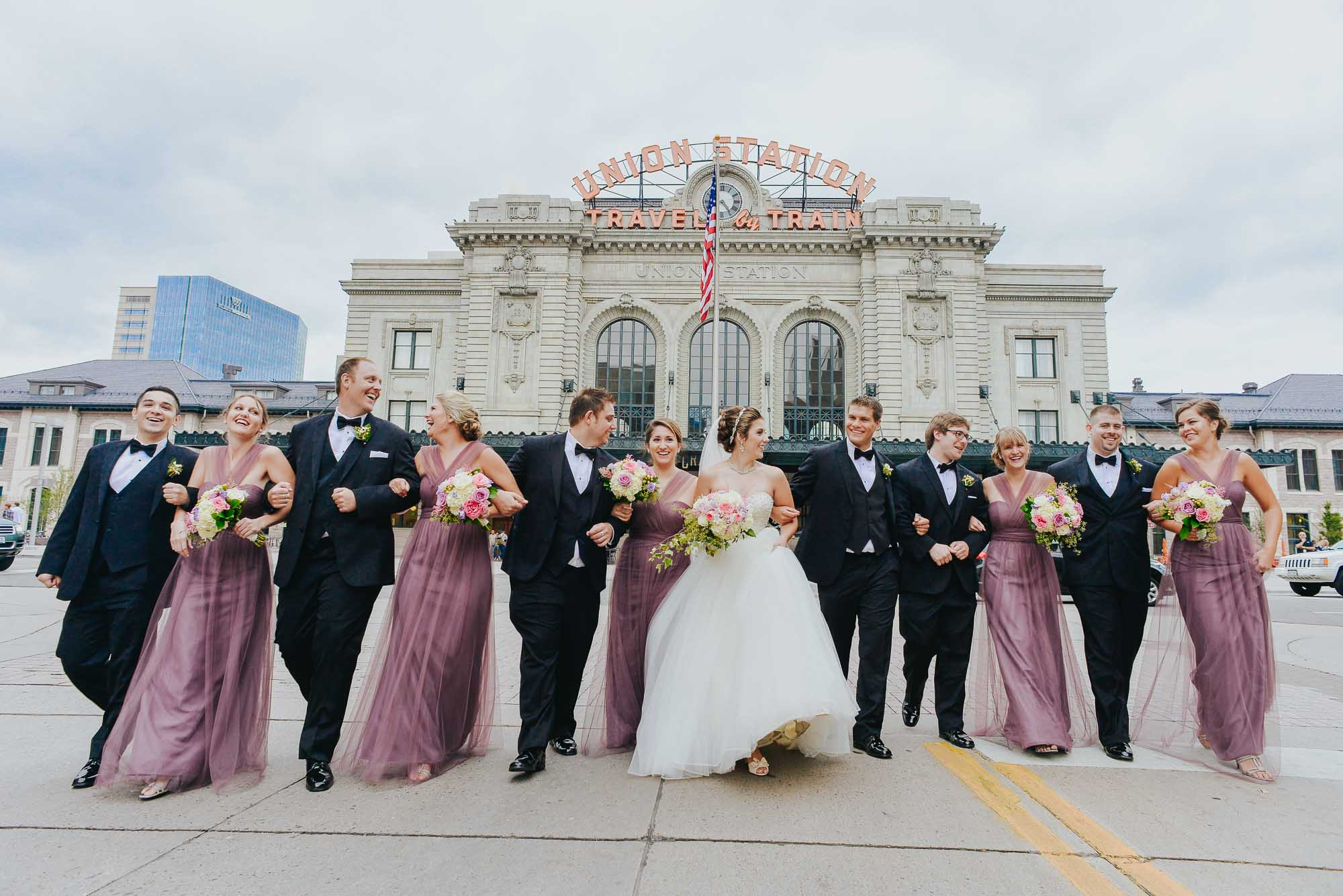 Bridal party at Denver's Union Station