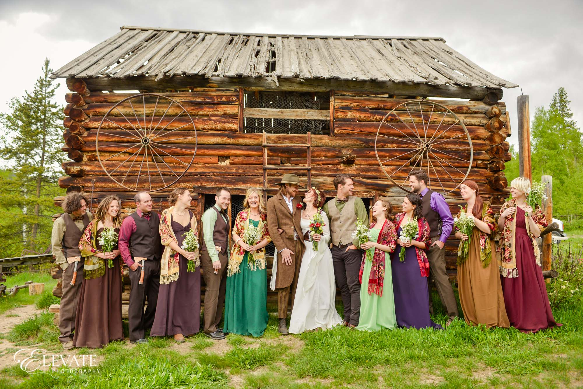 Wedding party barn