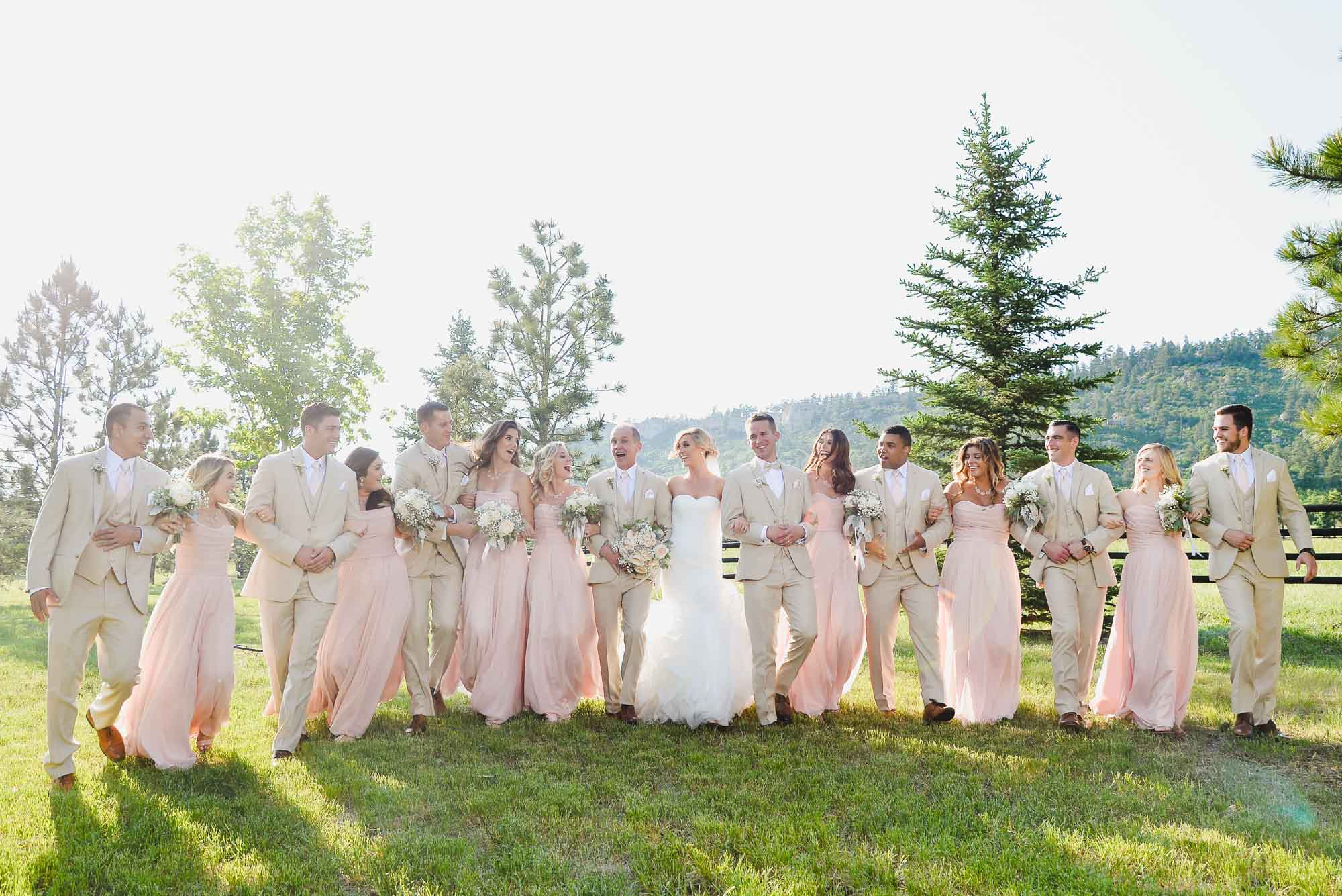 wedding party at Spruce Mountain Ranch