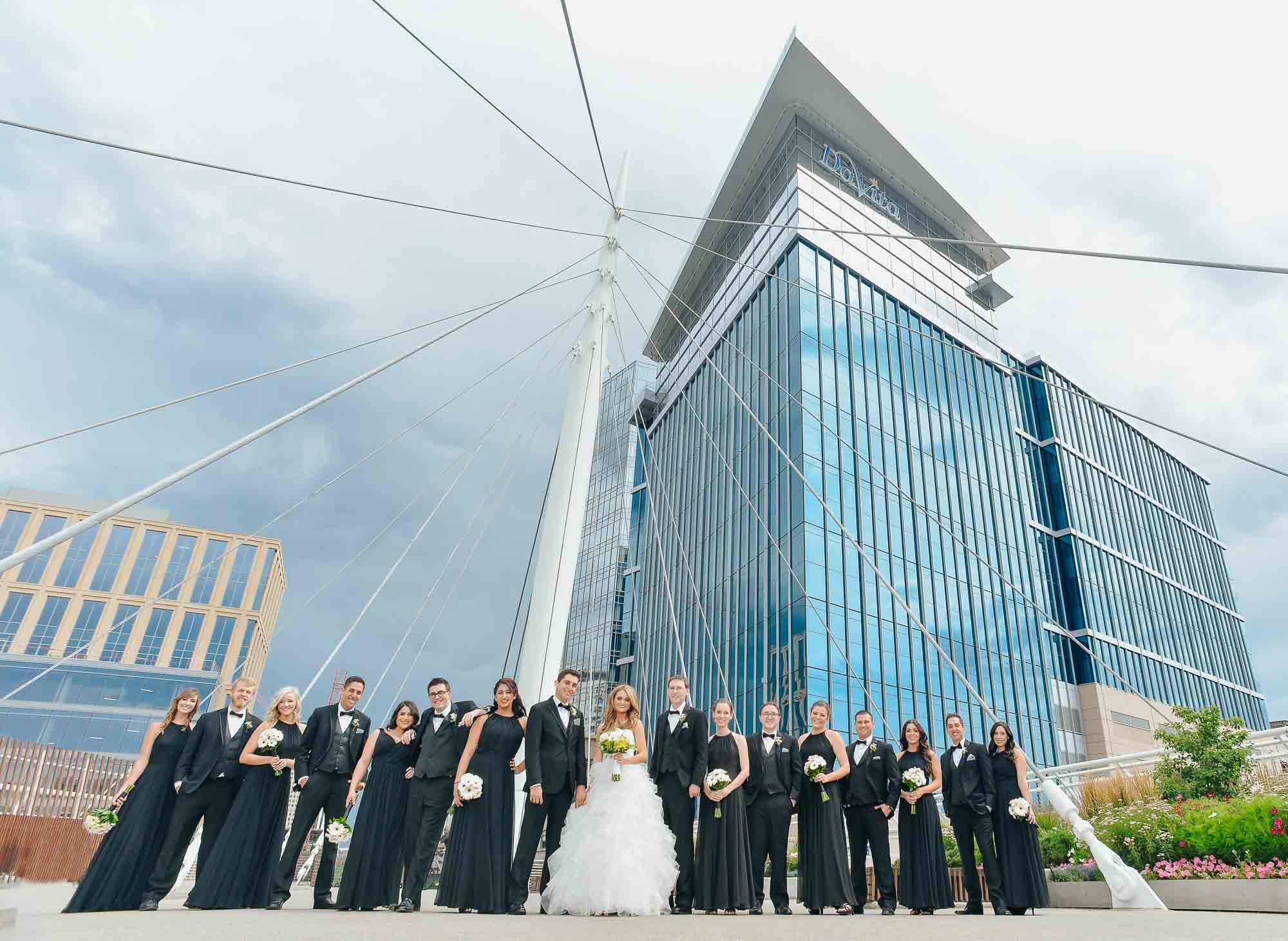 Denver wedding party