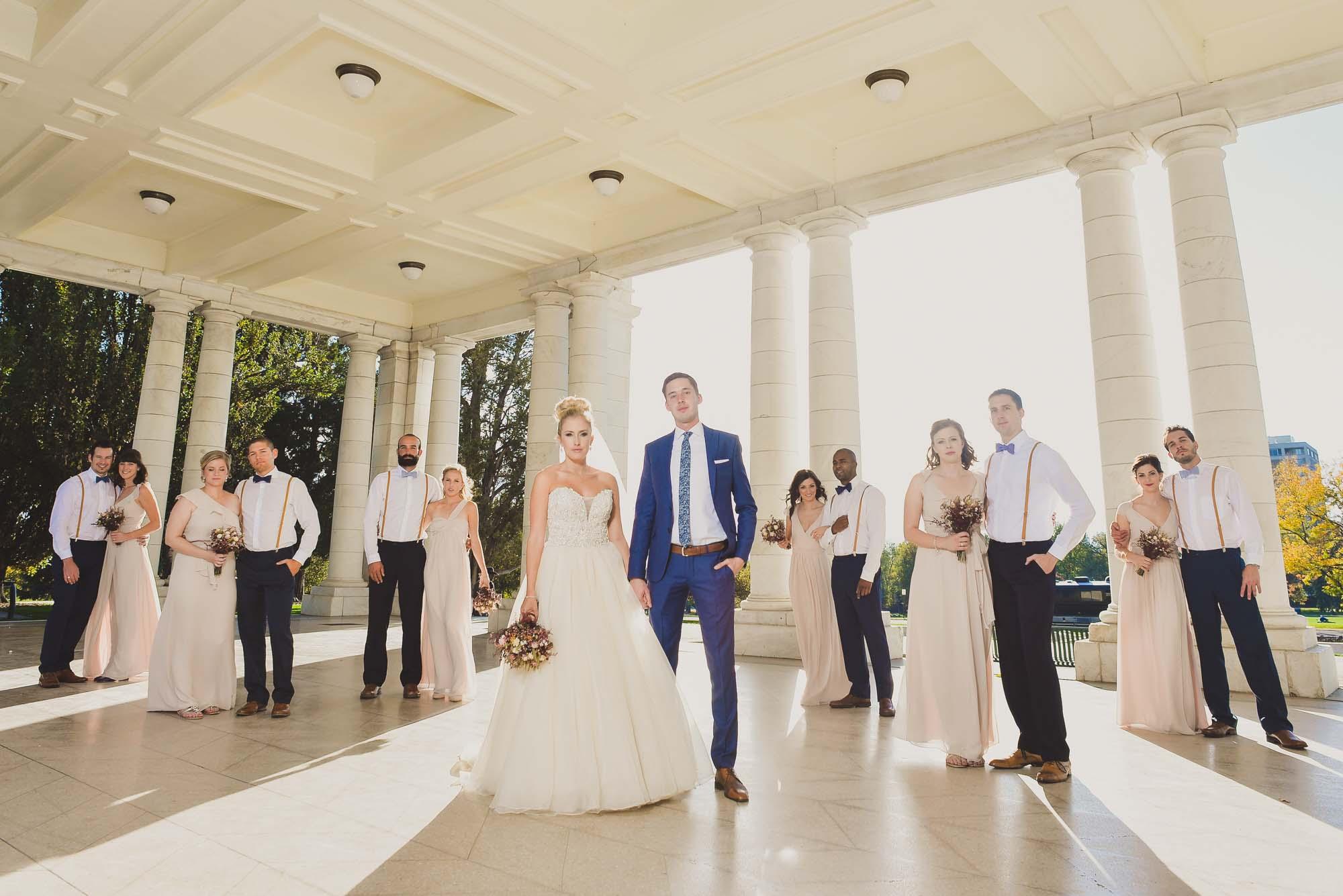 Bridal party at Cheeseman Park