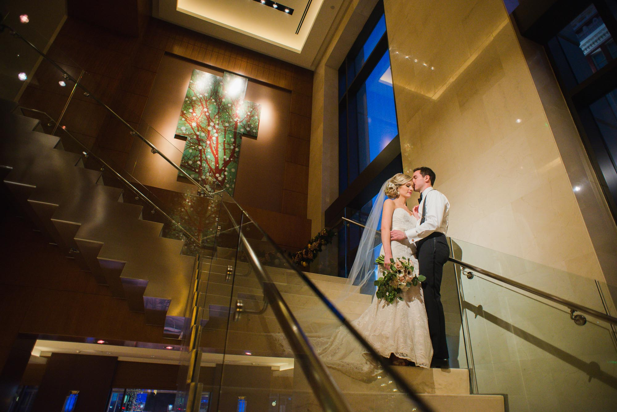bride and groom at Four Seasons