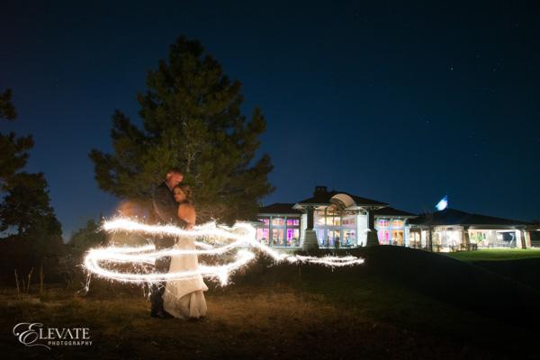 nighttime sparklers