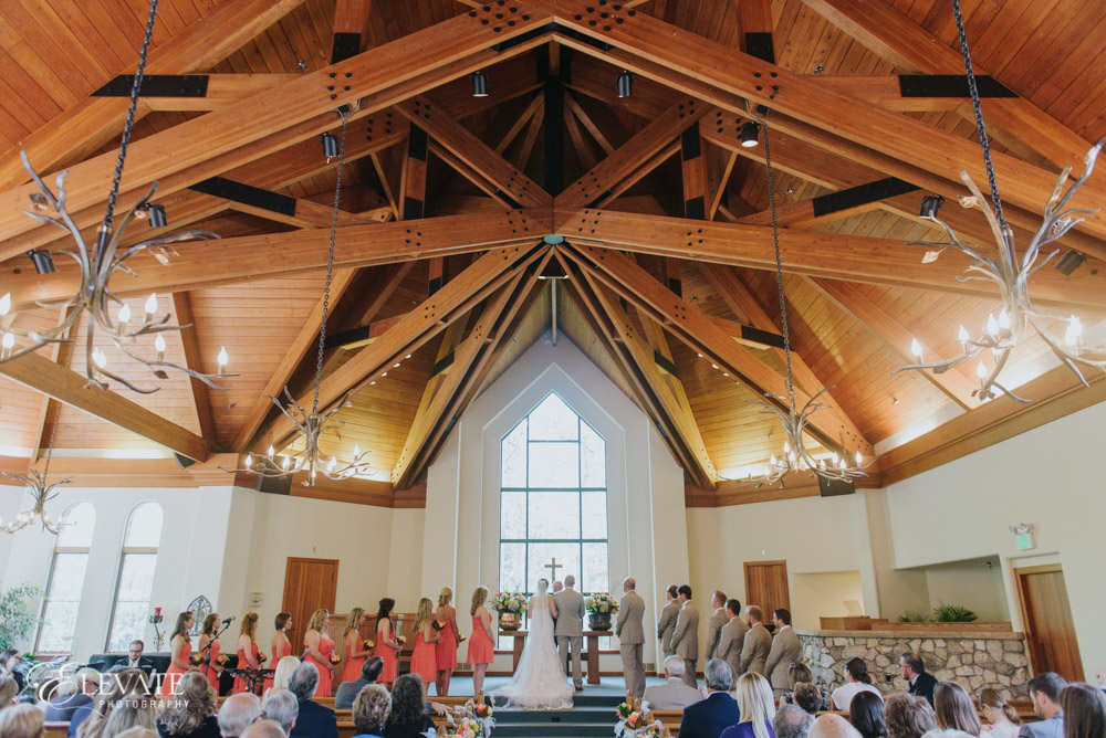 wedding ceremony at Beaver Creek Chapel