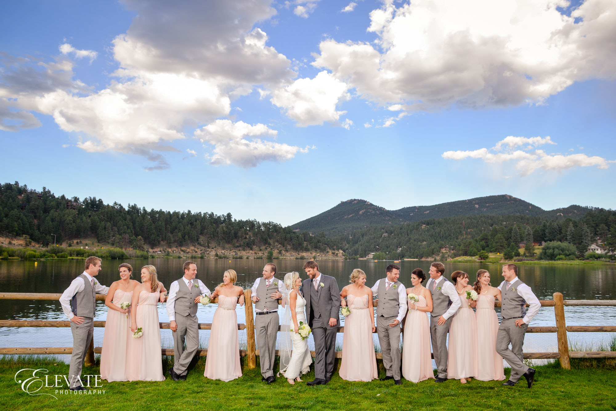 wedding party pink dresses