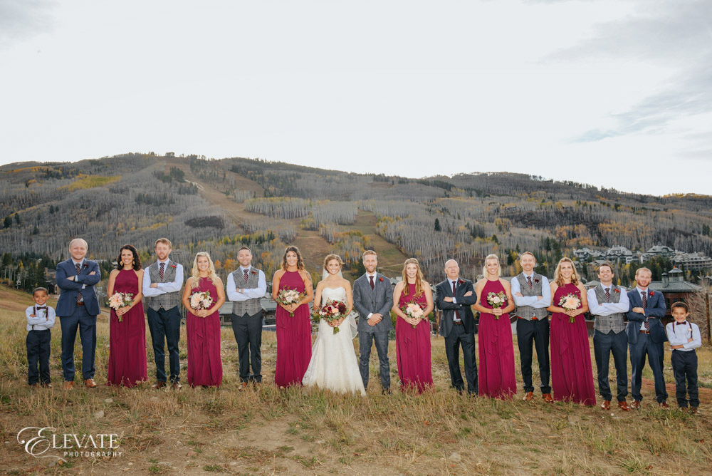 wedding party mountain