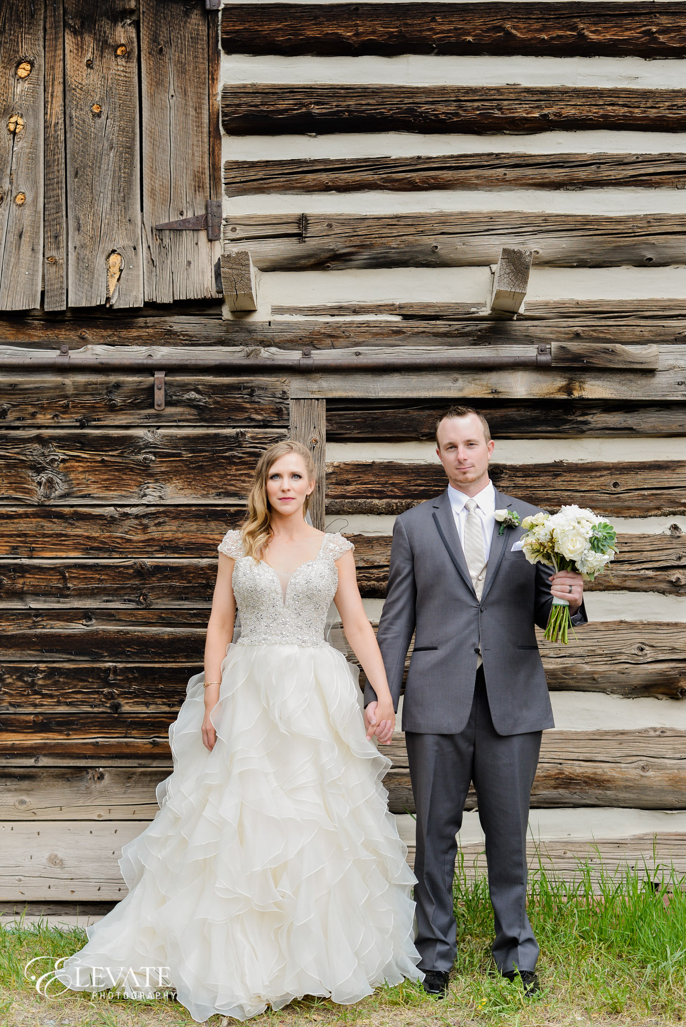 wedding couple american gothic telluride
