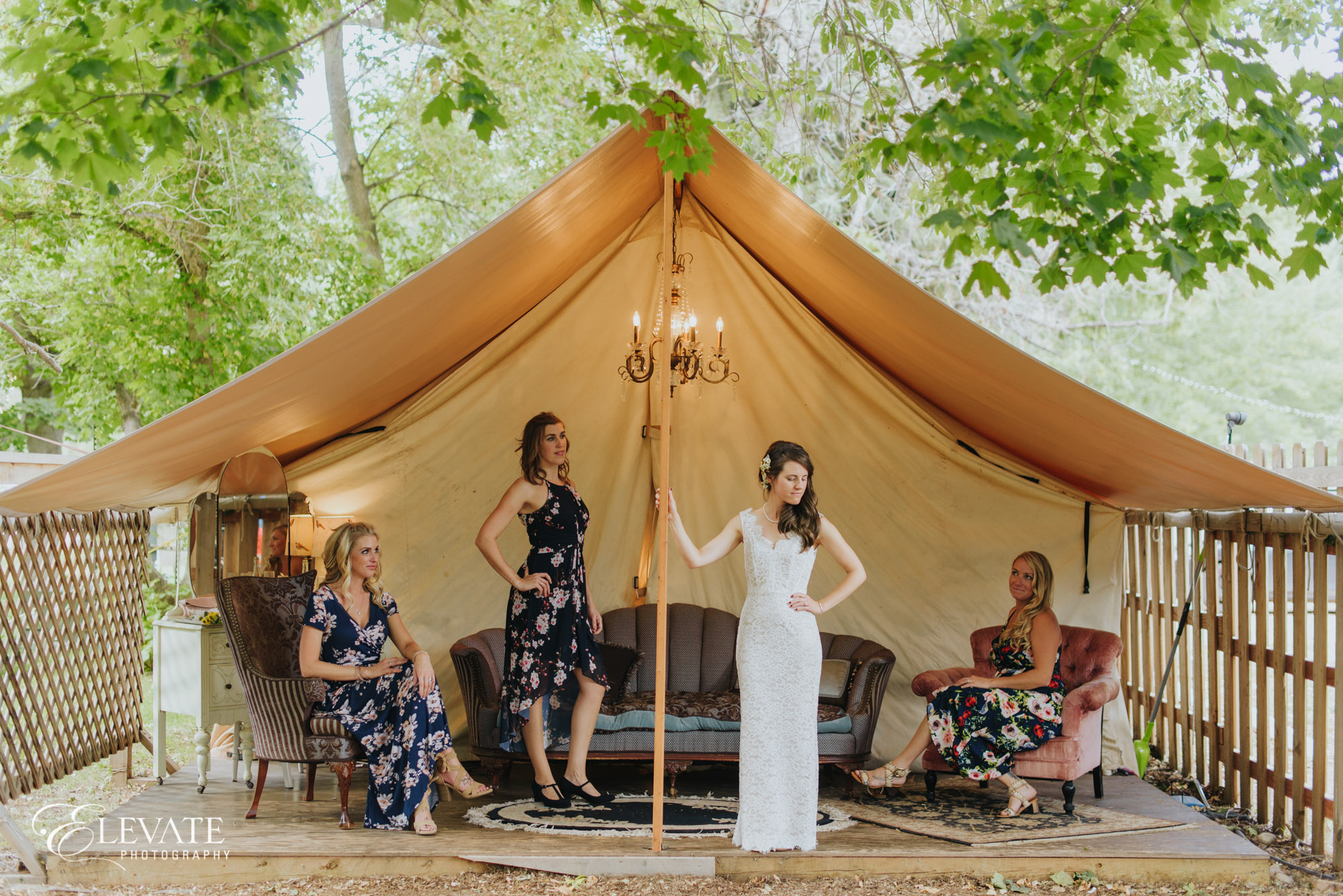 bridesmaids wedding tent