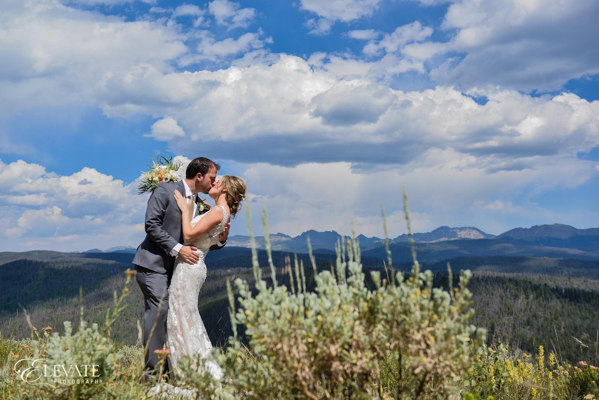 mountain wedding couple