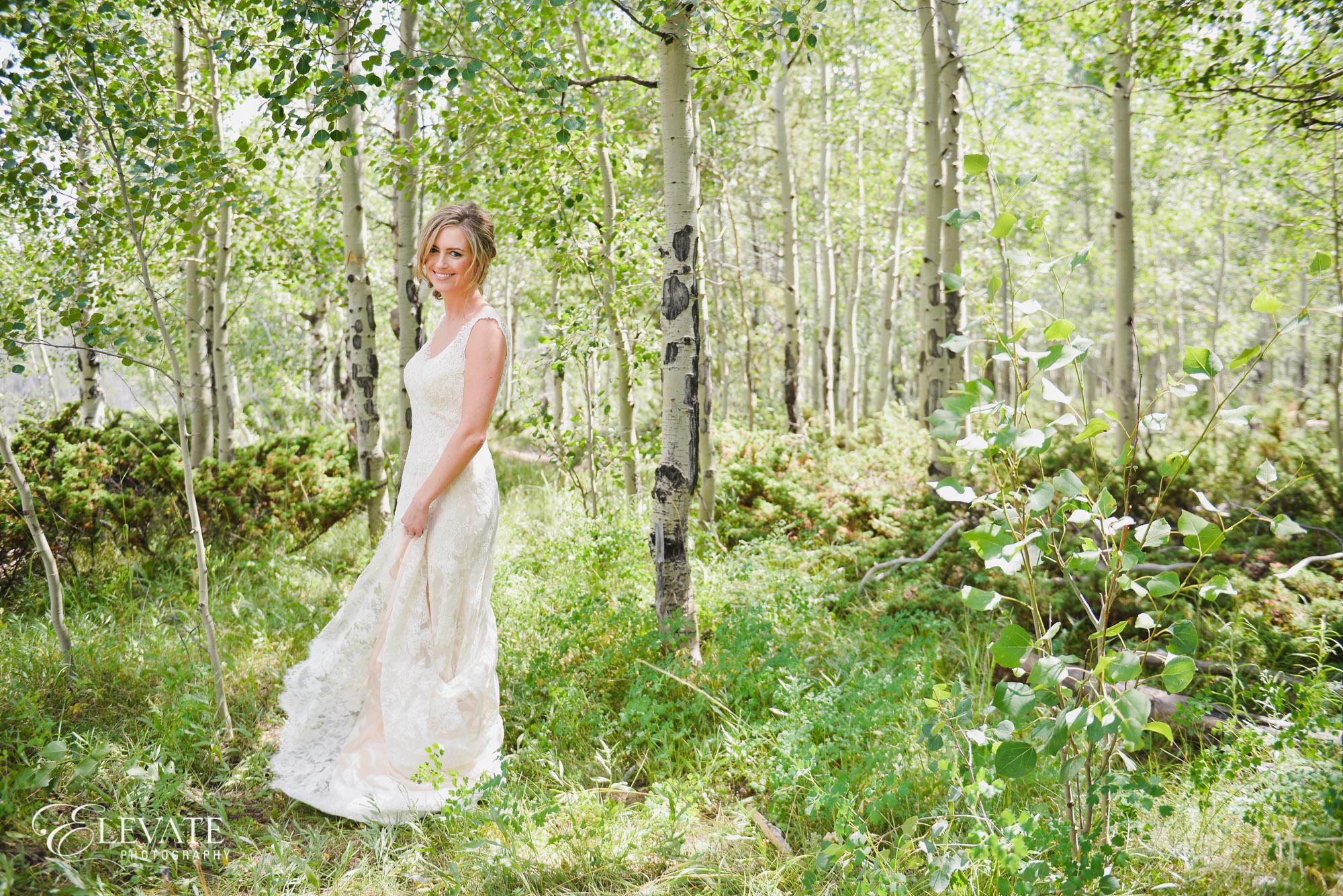 summer mountain bride