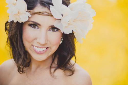 mountain bride flower crown yellow aspen
