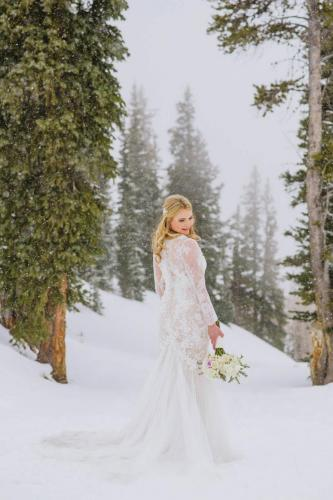 aspen winter wedding snow