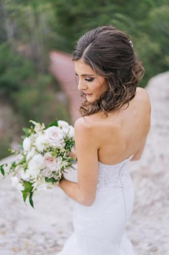 brunette bride dress