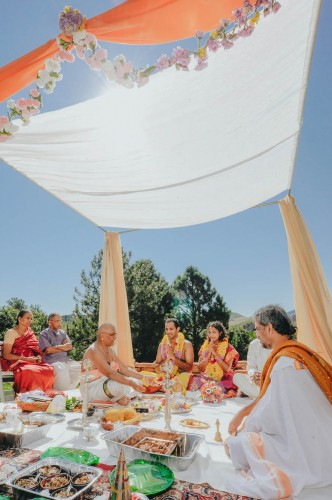 indian ceremony outside