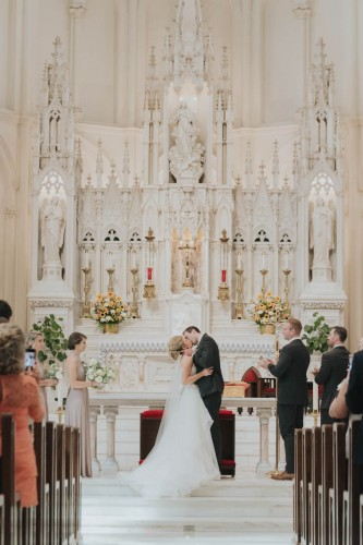 first kiss Cathedral Immaculate conception
