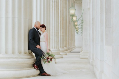 couple at courthouse