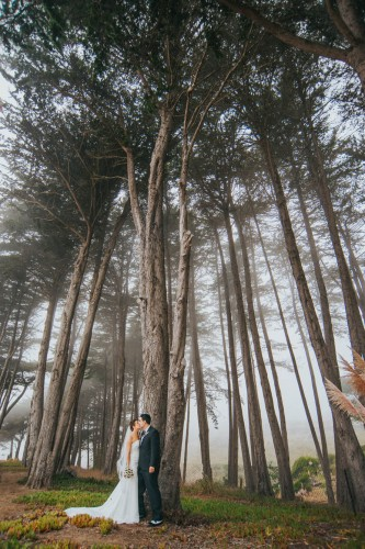 couple in woods