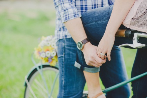 bicycle engagement hands