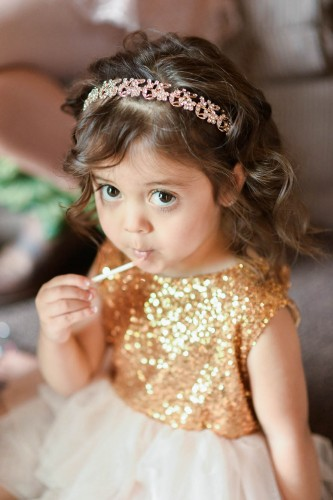 flower girl gold dress