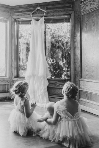 flower girls with dress