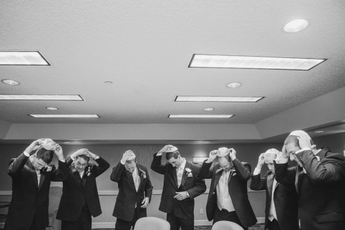 jewish groomsmen getting ready