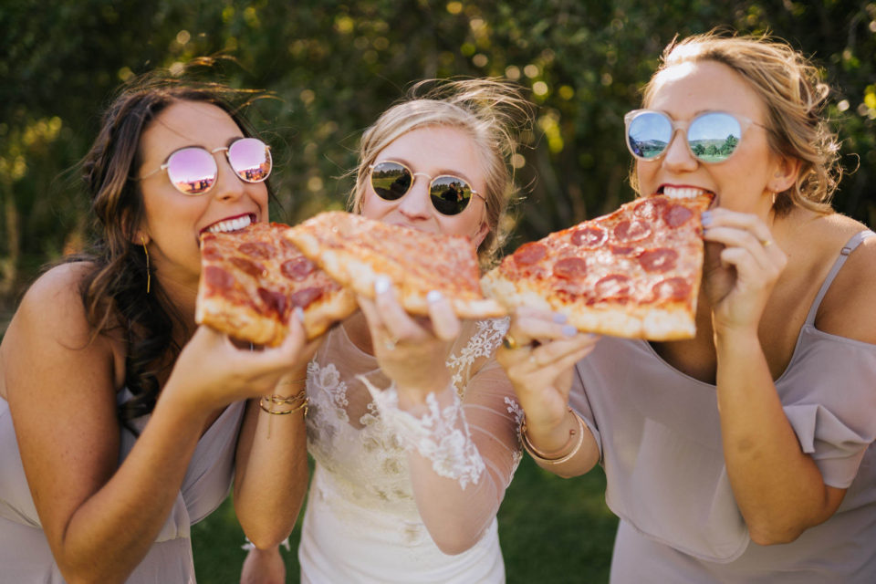 bridesmaid pizza