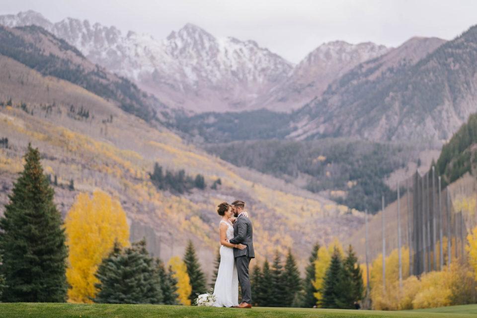 mountain wedding photo