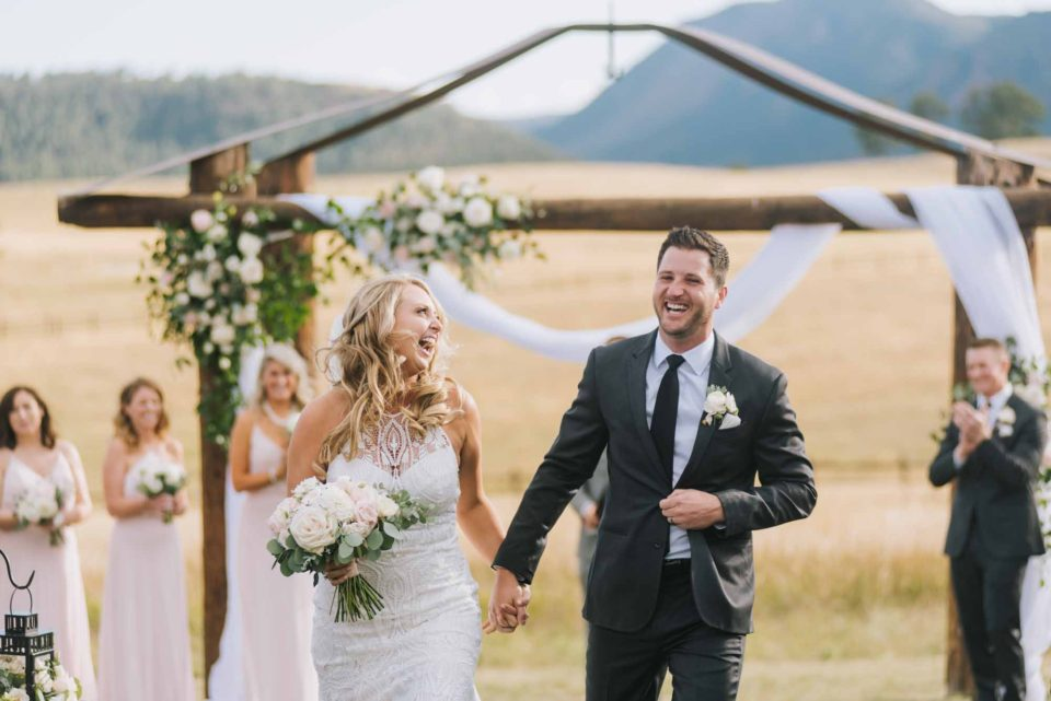 spruce mountain ranch wedding ceremony