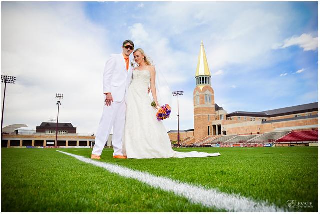 Soccer Themed Wedding Ideas: Denver University Soccer Themed Orange And Purple