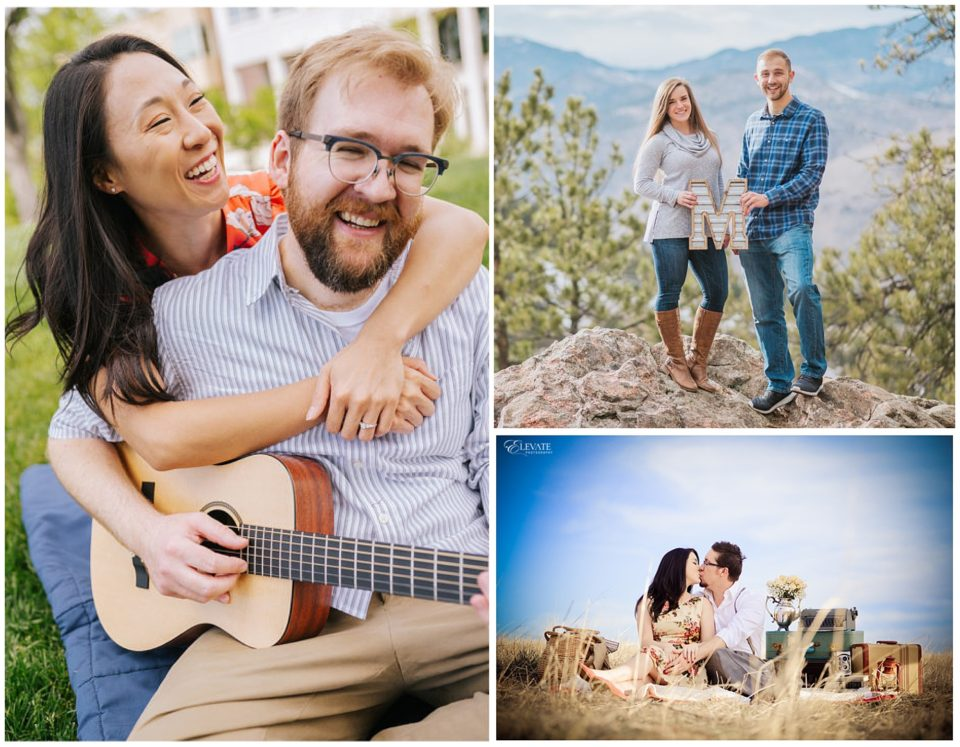 denver engagement photos with props