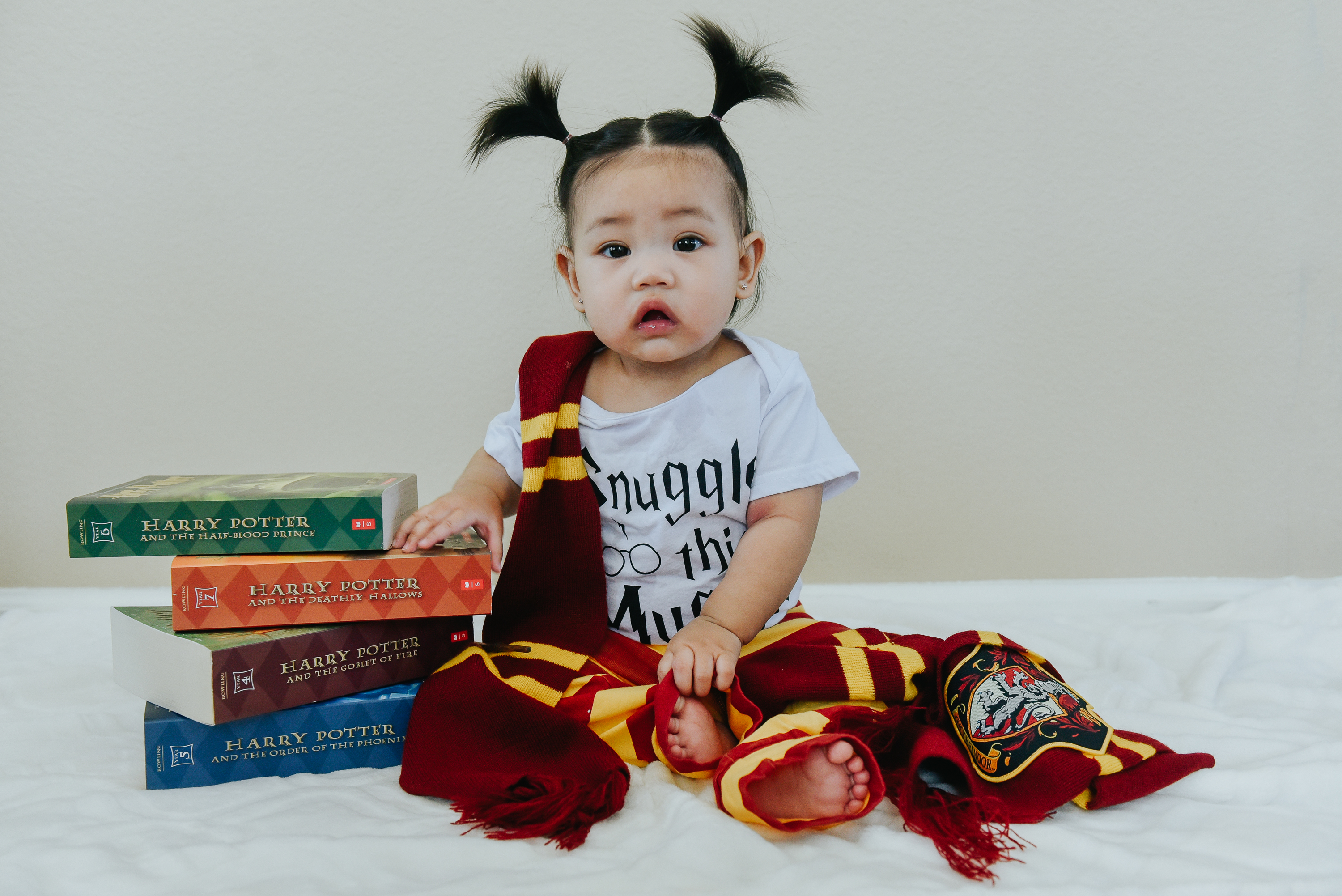 Kennedy is 6 months harry potter themed baby photos