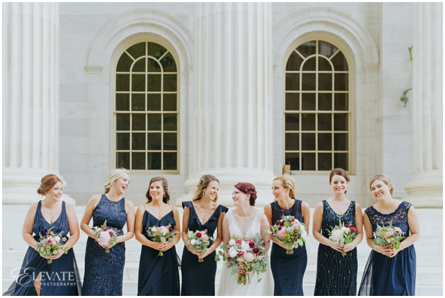849fc7788a2 Doesn t Aly look incredible while holding her bouquet from Plum Sage  Flowers and dress from The Bridal Collection ! courthouse wedding photos
