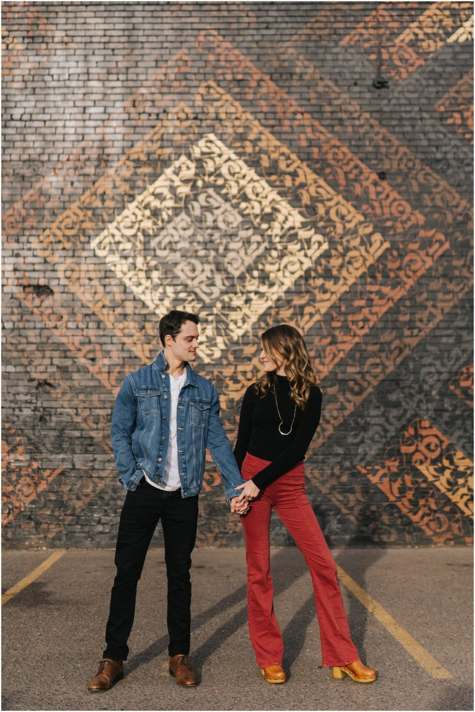 cryptik wall art engagement session